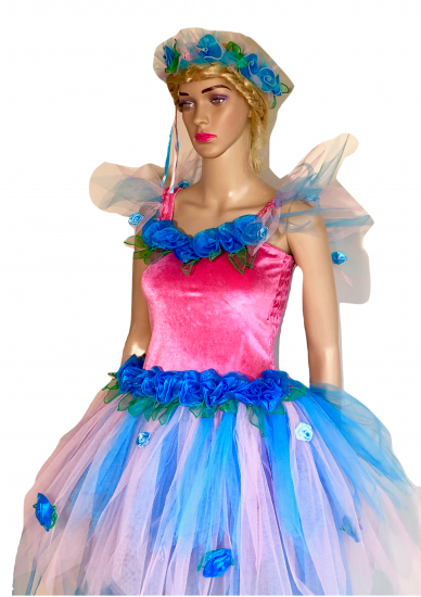 Women's Adult Fairy Dress Costume Pink & Blue Heaven - Click Image to Close