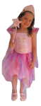 Girls Fairy Dress Costume Pink Garden Fairy