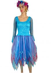 Women's Adult Fairy Dress Turquoise and Fuchsia