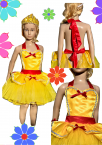 Girls Kids Apron Dress up Costume Set Belle Princess