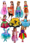 Day-care Dress-up Box Costume Sets Girls 10 Pce Set 25% Discount