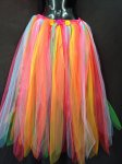 Fairy Skirt Dress Costume Long Rainbow