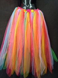 New Adult Fairy Skirt Dress Costume Long Rainbow