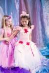 New Girls Kids Fairy Dress Costume Ribbon Fairy Dress