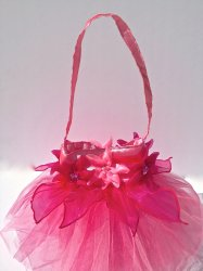 Fairy Bag Organza Flower Bag Pink Tulip