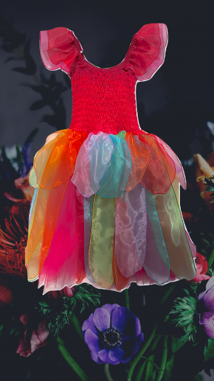 Adult Fairy Dress Costume Velvet Rainbow - Click Image to Close