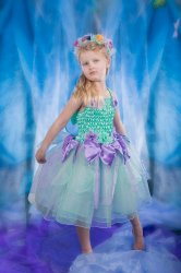 Girls Fairy Dress Costume Mint Petal Fairy