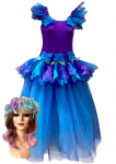 Women's Adult Fairy Dress Costume Frozen Midnight