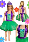 Girls Kids Apron Dress up Costume Set Ariel Princess