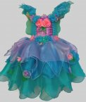 New Girls Kids Fairy Dress Costume Cosplay Blue Heaven