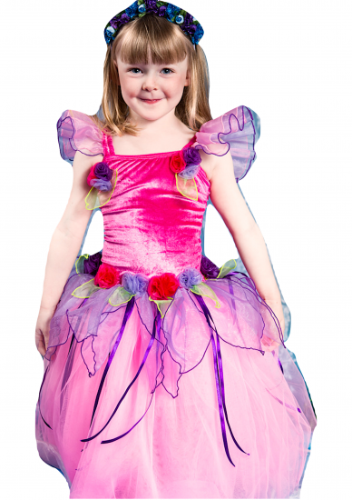 Girls Fairy Dress Costume Velvet Buttercup - Click Image to Close