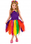 Girls Fairy Dress Costume Purple Rainbow