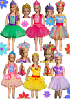 Day-care Dress-up Box Girls Apron Sets 12 Piece 20% Discount
