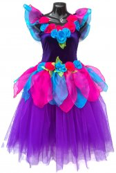 Adult Women's Fairy Dress Costume Purple Velvet Pansy