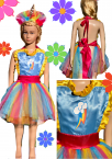 Girls Kids Apron Dress up Costume My Little Pony