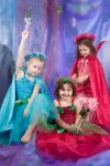 Girls Fairy Dress Costume Rose Petal